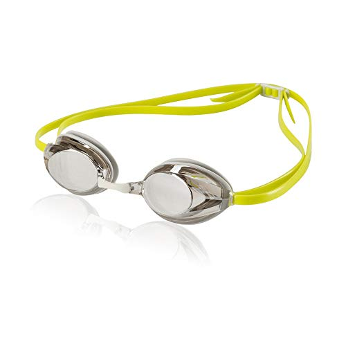 Speedo Adult Record Breaker Goggle - White/Limeade