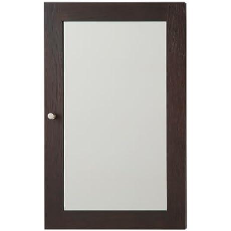 18 Alina Contemporary Solid Wood Framed Medicine Cabinet In Oak Toscana