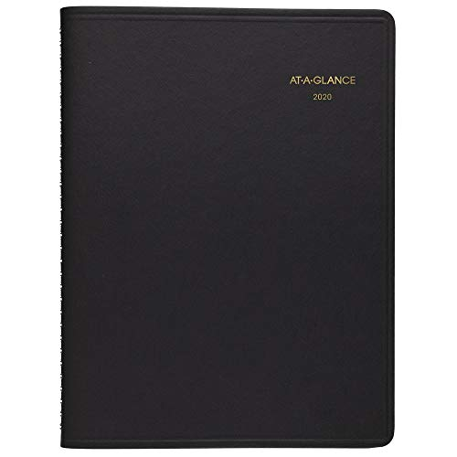 AT-A-GLANCE 2020 Daily Appointment Book, Planner, 8' x 11', Large, Two Person Group Book, Black (7022205)