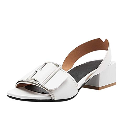 (Respctful✿High Heels Mules Slides, Women Heels Strappy Sandals Sandals Slippers Mules Shoes Womens Pumps White)