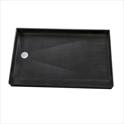 30 Drain Left (Tile Redi 3060L-PVC Single Curb Shower Pan with Integrated Left PVC Drain, 30-Inch Depth by 60-Inch Width)
