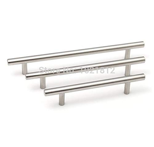 Solid Stainless Steel Cabinet Handle Durable Cupboard Pull Kitchen Handles Bars Furniture Pulls - (Color: 288mm CC 450mm LEN)