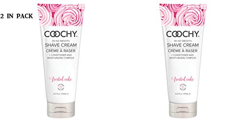 (Coochy Rash Free FROSTED CAKE Shave Creme Water Based Shave Cream and Moisturizer - Size 16 Oz (Pack of)
