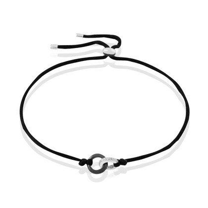 HISTOIRE D'OR - Bracelet Or Et Céramique - Femme - Or blanc 375/1000 - Taille Unique