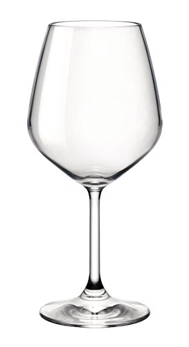 (Bormioli Rocco 18oz Red Wine Glasses (Set Of 4): Crystal Clear Star Glass, Laser Cut Rim For Wine Tasting, Lead-Free Cups, Elegant Party Drinking Glassware, Dishwasher Safe, Restaurant Quality)