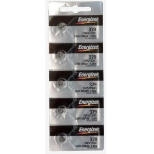 Price comparison product image Energizer 379 Button Cell Silver Oxide Sr521sw Watch Battery (1 Pack of 5 Batteries)