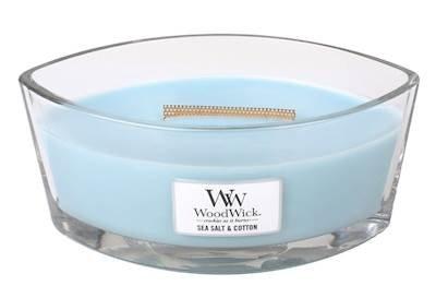 (WoodWick Sea Salt/Cotton Hearthwick Ellipse Candle, 16 oz.)