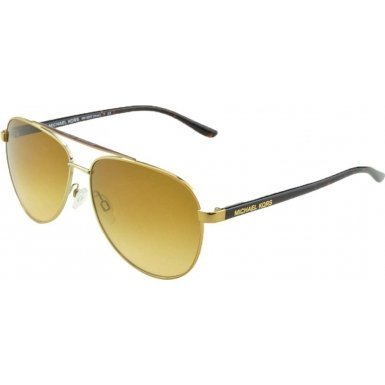 Michael Kors Women's Aviator Sunglasses, Tortoise Gold/Warm Brown, One - Michael Price Kors Of Sunglasses