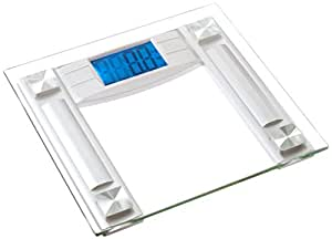 """BalanceFrom High Accuracy Digital Bathroom Scale with 4.3"""" Large Backlight Display and Step-on Technology, Silver"""