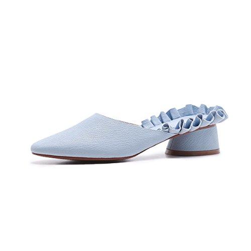 Tacón Sandalias De Mujer Toe Puntiagudo Blue La amp;s Mei HYqw4AO