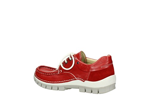 Gris Leather mujer de 4700 de Piel cordones Jump 757 Summer para Wolky Zapatos Red OzgwHxq