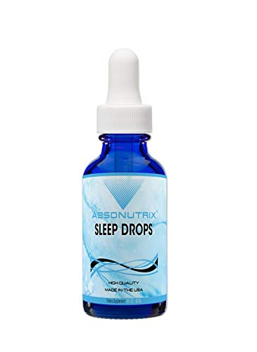 ABSONUTRIX Sleep Drops ? All-Natural Sleep Aid Supplement Including Melatonin, Valerian Root, Chamomile & Passion Flower ? Non-Habit-Forming Calm, Stress & Anxiety Relief Formula ? 2fl oz Made in USA