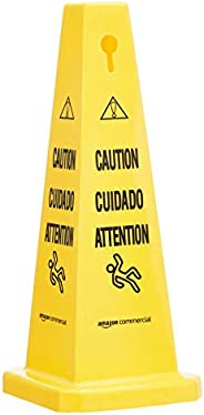AmazonCommercial Floor Safety Cone, 25-3/4-Inch - Caution, Multilingual - 2-pack