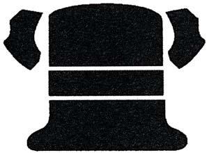 (EMPI 3915 65-72 VW Bug & Super Beetle Sedan Rear Well Carpet Kit, 5-Piece,)