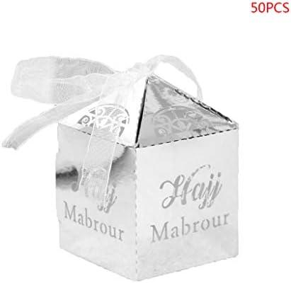 Sunhoyu - Caja de regalo de papel para mubarak o repostería (50 ...