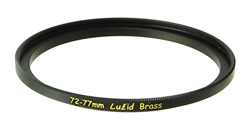 LUŽID Brass 72mm to 77mm Step Up Filter Ring Adapter 72 77 Luzid by LUŽID