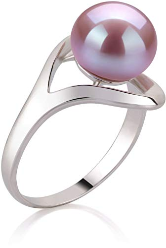 Sadie Lavender 9-10mm AA Quality Freshwater 925 Sterling Silver Cultured Pearl Ring - Size-9 by PearlsOnly (Image #1)