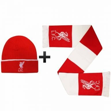 2ae54a3be1e Amazon.com   Liverpool FC Winter Warmers Hat   Scarf Set   Sports ...