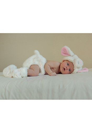 Princess Paradise Baby Cuddly Lamb Diaper Cover Set, White, One Size