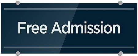 Basic Navy Premium Acrylic Sign 5-Pack 8x3 Free Admission CGSignLab