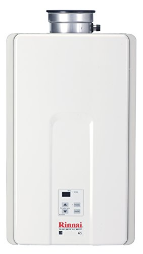 Rinnai V75IP 7.5 GPM Indoor Low NOx Tankless Propane Water Heater - Heater Water Propane