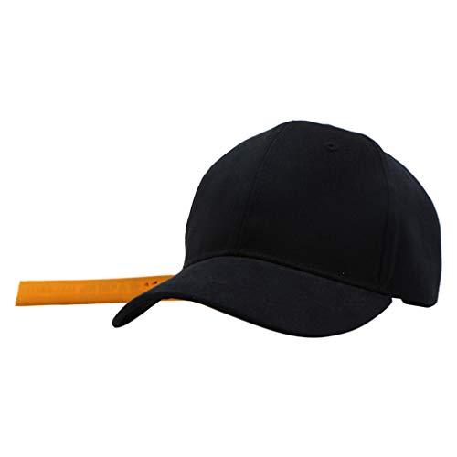 - ACEKB Fashion Unisex Ponytail Messy Buns Trucker Plain Baseball Visor Cap Dad Hat (Black)