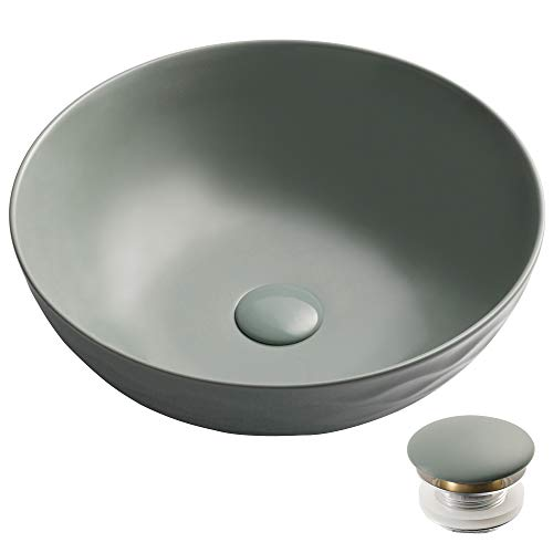 (Kraus KCV-200GGR-20 Viva Bathroom Vessel Sink Grey)