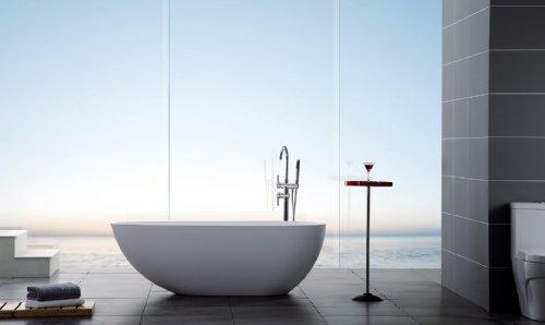 Modern Bathtub - Soaking Bathtub - Freestanding Bathtub - Solid Surface Bathtub - Cast Stone Bathtub - Ethos 67