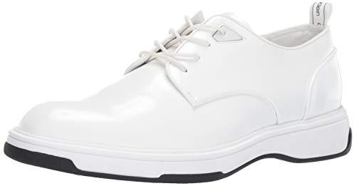 Calvin Klein Men's Patsy Oxford, White Box Leather, 9 M M US