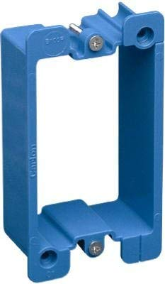 Carlon B1EXT-CRD PVC Box Extender For Non-Metallic Single-Gang Wiring Boxes, Extends Existing Box By 1-1/8