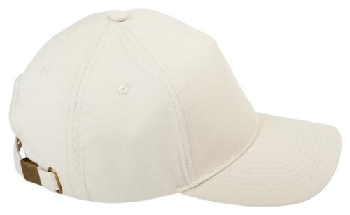 BX 5 PANEL BRUSHED TWILL CAP (STONE) (OS) (Hats For Wholesale)