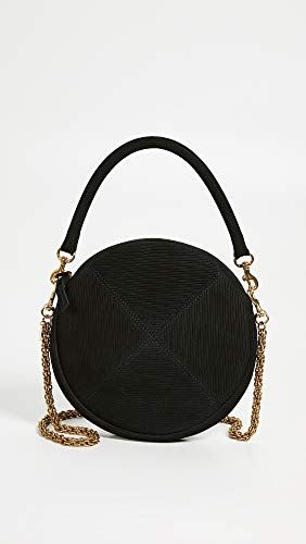 Women's Circle V Black Strap Clare with Clutch Chain aOz4q1x