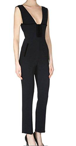 Brinny Femme Pantalon longue chemise sans manches col V collants