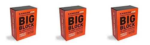KamadoJoe 20 Pound Big Block Natural Lump Hardwood Charcoal Box (3-(Pack))