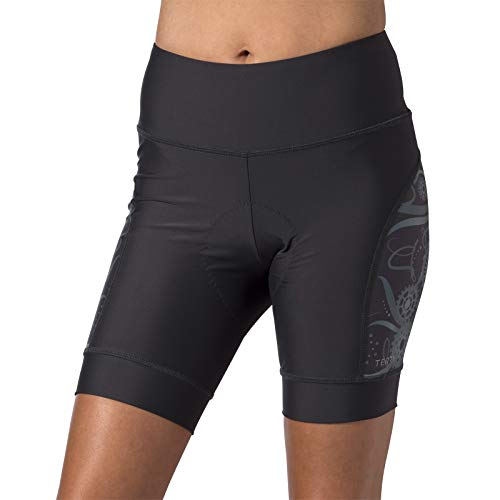 (Terry Women's Cycling Soleil Short - Designed for Comfort and Performance with UPF 50 Plus Sun Protection - Charcoal/Geared Up Gray - Large)