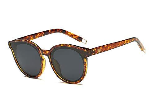 Gafas De Retro Caja Negro Gafas Moda La Unisex Sol Retro WJYTYJ Redondas Grande De Gestión Tendencia UV Clásica Polarizadas q8twwSTBW