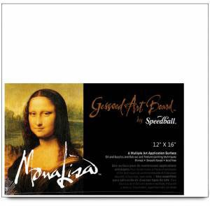 Mona Lisa Gessoed Art Board, Multi-Application Surface, 9 X 12 inches, White (0010305) by Mona Lisa