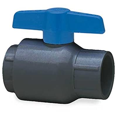 Spears 2621-007G PVC Schedule 80 Utility Ball Valves, EPDM O-ring, Threaded, Gray, 3/4-Inch by Spears