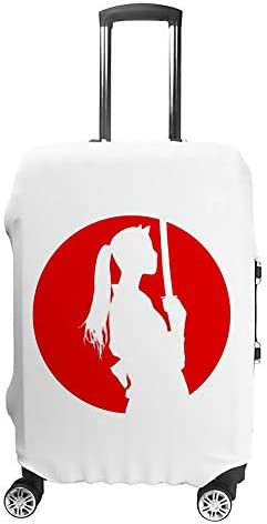 スーツケースカバー トラベルケース 荷物カバー 弾性素材 傷を防ぐ ほこりや汚れを防ぐ 個性 出張 男性と女性忍者少女