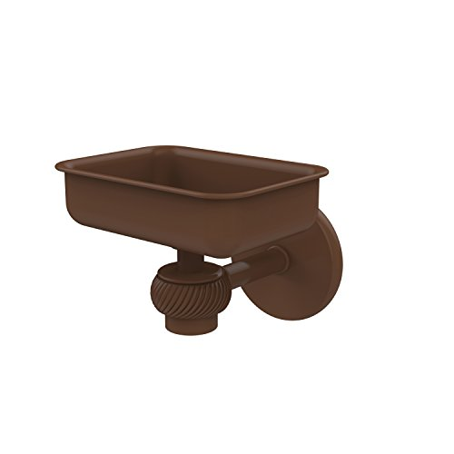 Allied Brass 7132T-ABZ Satellite Orbit One Wall Mounted Soap Dish with Twisted Accents Antique Bronze