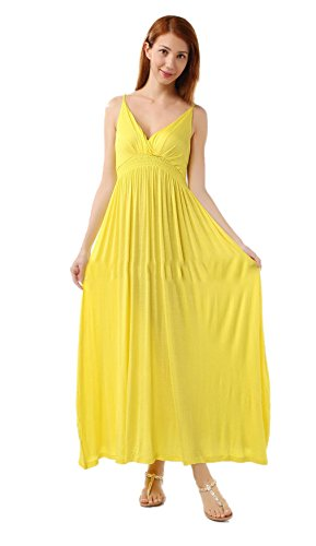 Engerla - Vestido - corte imperio - para mujer amarillo