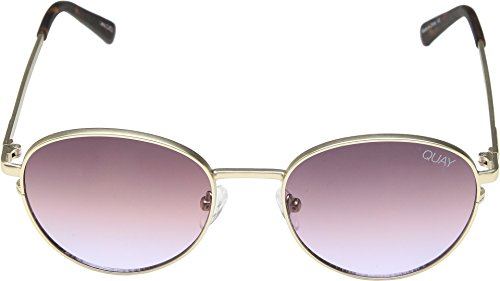 Quay Women's Crazy Love Sunglasses, Gold/Purple, One Size by Quay (Image #1)