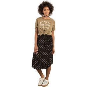Volcom Women's Champain Trail All Over Print Midi Length Skirt, Black, L by Volcom (Image #1)