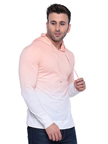 311hNV%2BuFmL GRITSTONES Tan dye Hooded T-Shirt GSHDOMB2029-P