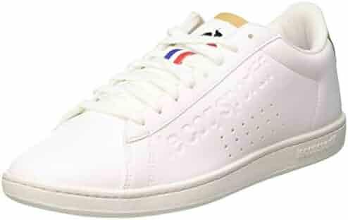 bbcaead37764a Le Coq Sportif Unisex Adults' Courtset Trainers, Optical White/Croissant, 8  UK