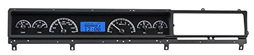 (Dakota Digital 66 67 Ford Fairlane Car Analog Dash Gauges System Kit Black Alloy Blue VHX-66F-FAR-K-B)