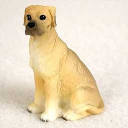 - Great Dane Miniature Dog Figurine - Uncropped Ears - Fawn