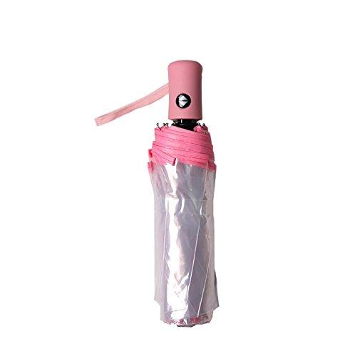 Paraguas automático de la Auto-Cierre de sombrilla Transparente Plegable Masculino Creative Creative pequeño (Color : Azul): Amazon.es: Hogar