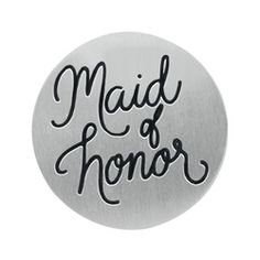 "Origami Owl ~ MEDIUM SILVER ""MAID OF HONOR"" PLATE - LIMITED EDITION"
