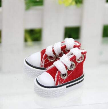XuBa 3.5cm2cm3cm Doll Shoes for Blythe Licca Jb Doll Mini Shoes for Russian Doll 1/6 BJD Sneakers Shoes Boots red One Size ()